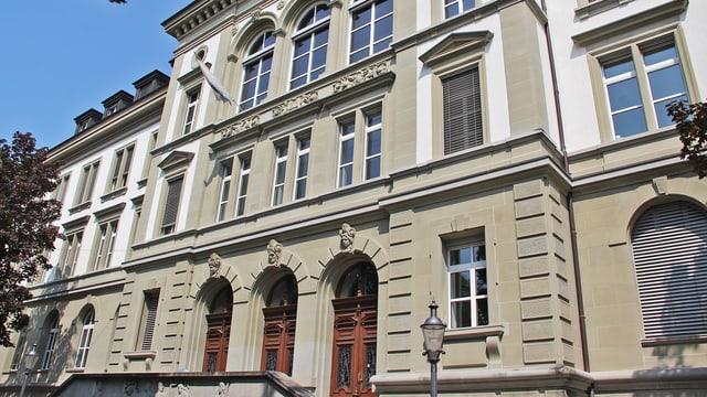 Fassade der Schulanlage Musegg in der Stadt Luzern