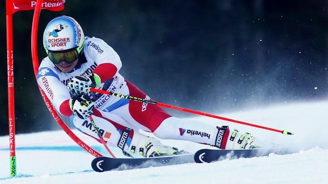 Gino Caviezel durant la cursa a Garmisch