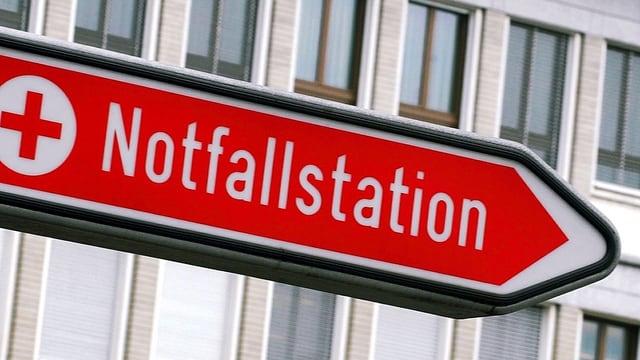 Signaltafel Notfallstation.