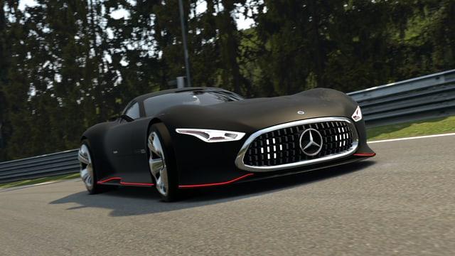 Ein Mercedes-Konzept-Auto auf dem Nürburgring.