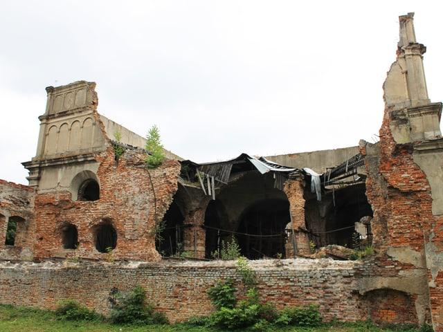 Die Ruine einer ehemaligen Synagoge in Brody.