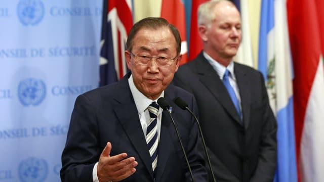 Ban Ki Moon an Rednerpult