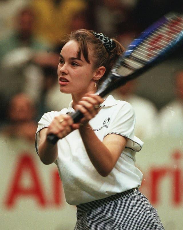Martina Hingis bei ihrem Debüt auf der WTA-Tour 1993 als 13-Jährige in Zürich.