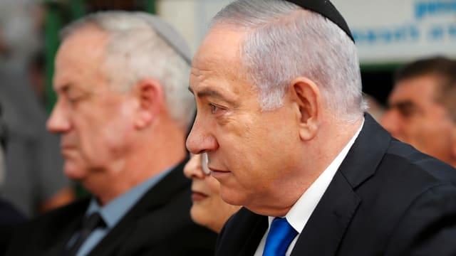 Netanjahu und Gantz.