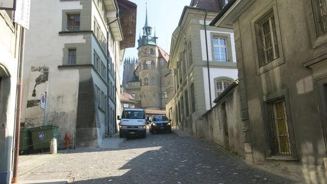 Die alte Brunnengasse in Freiburg