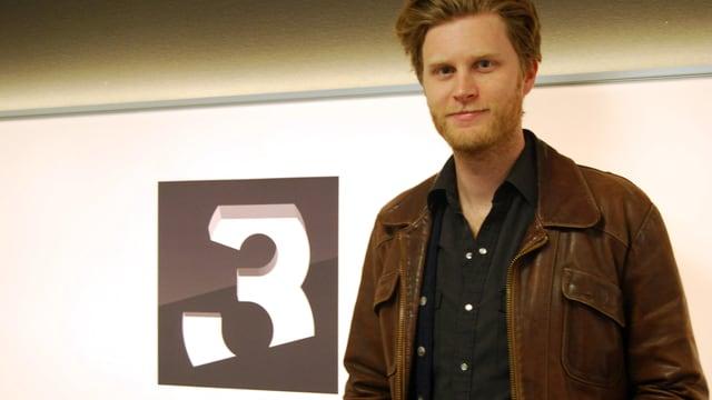 Wesley Schultz, Sänger von «The Lumineers», im SRF 3-Studio.