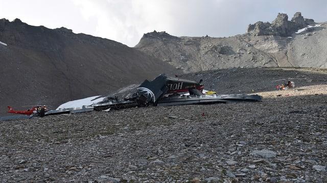 La Ju-52 ch' è crudada al Piz dal Segnas.