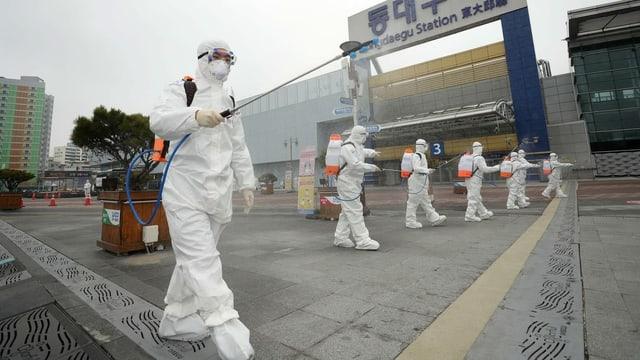 In der Millionenstadt Daegu hat es besonders viele Infektionsfälle.