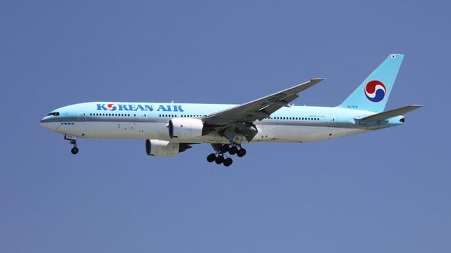 Ein Flugzeug der Korean Air.