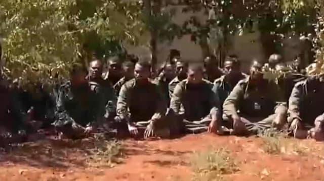 Bildschirmfoto eines am 11. September veröffentlichten Videos der Entführer.