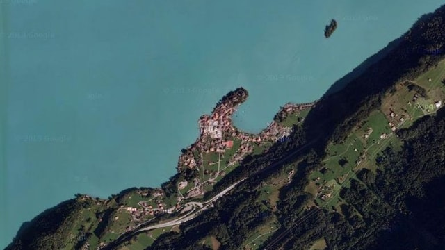 Luftaufnahme von Iseltwald.