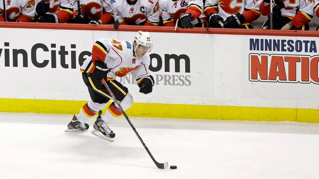 Sven Bärtschi aveva dà per ils Calgary Flames en la NHL.