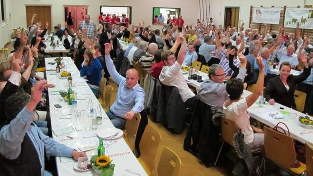 150 Delegierte waren in Muhen anwesend.