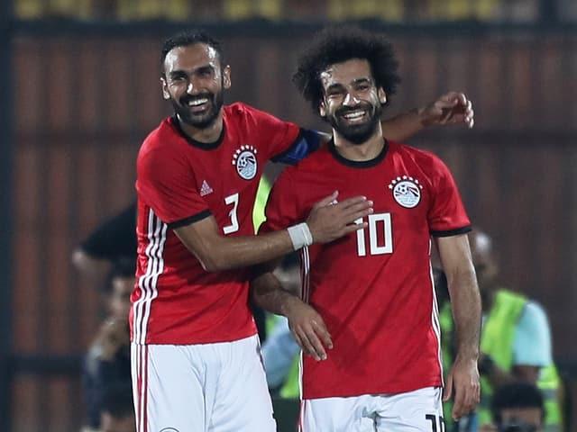Mohamed Salah lacht