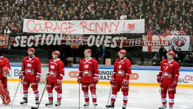 Auch in Lausanne wünschten die Fans Ronny Keller alles Gute.