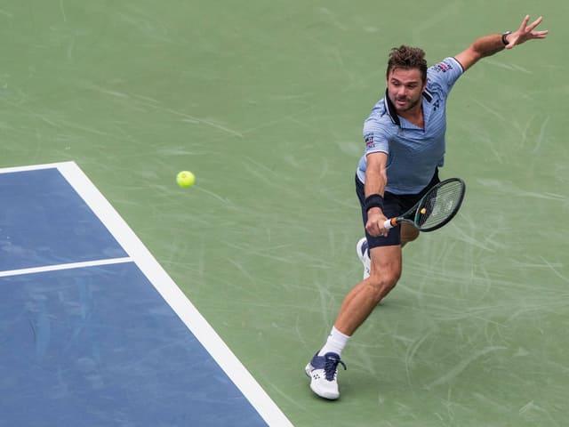 Stan Wawrinka trifft im zweiten Spiel an den US Open auf Jérémy Chardy.