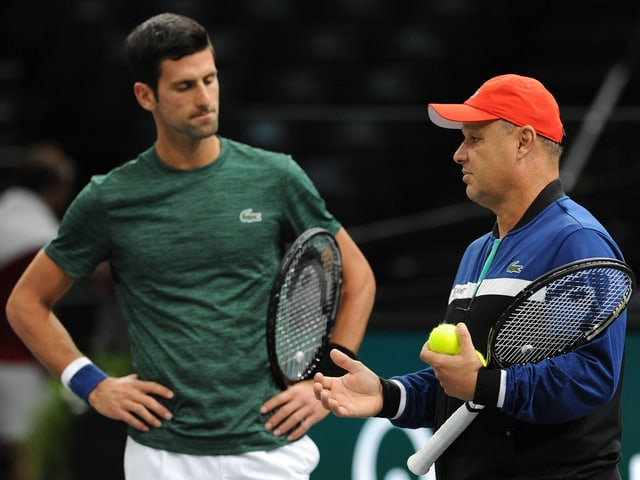 Novak Djokovic und Marian Vajda