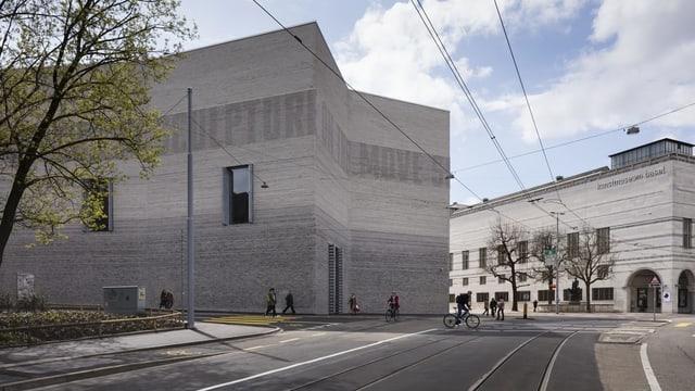 Der Neubau des Kunstmuseums Basel von aussen.