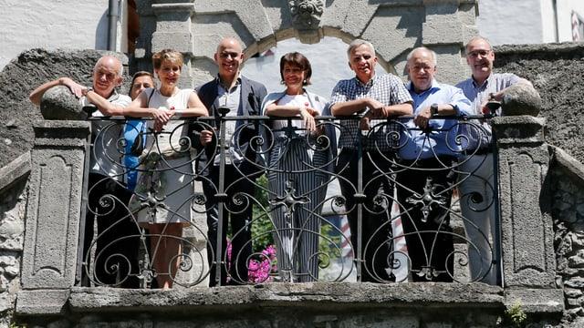 Gruppenfoto Bundesrat auf Schloss Wildegg