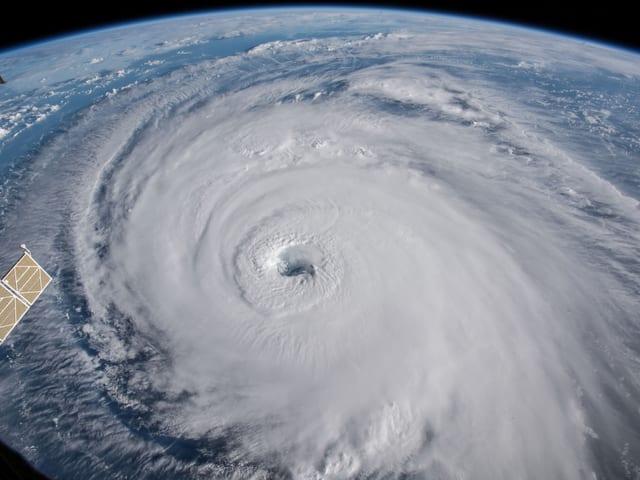 Der Hurrikan von oben.