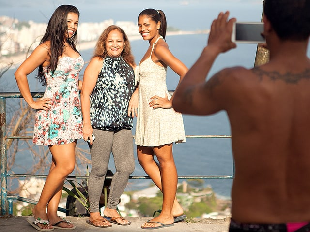 Beliebtes Fotosujet: Der Aussichtspunkt im Vidigal Favela.