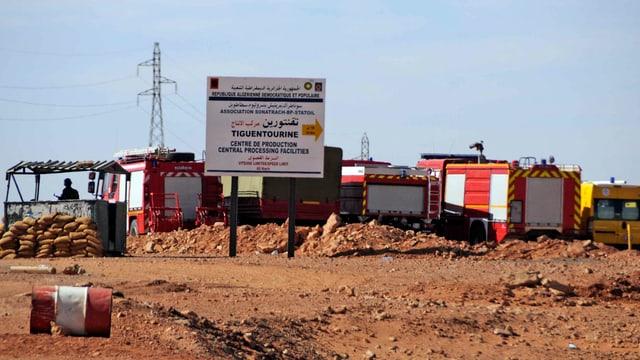 Feuerwehrfahrzeuge, Kontrollposten in der Wüste