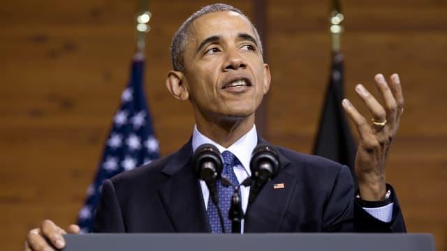 Obama bei seiner Rede in Hannover.
