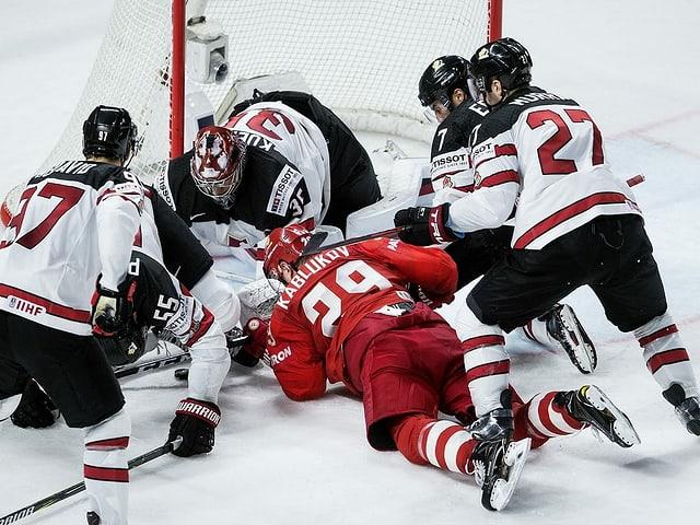 Bei der WM 2018 setzte sich Kanada gegen die «Sbornaja» im WM-Viertelfinal durch.