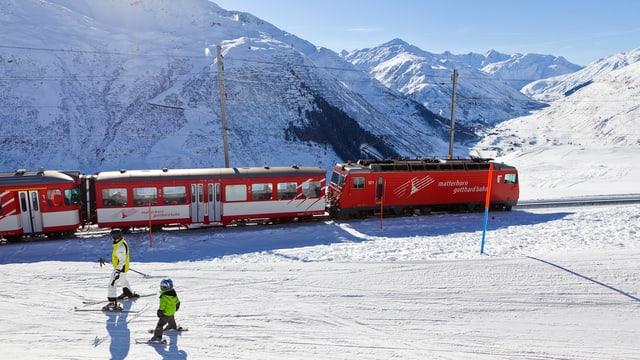 Ein Bild der Matterhorn-Gotthardbahn