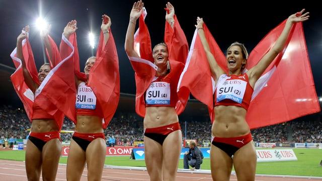 Wollen die Sprinterinnen in den Staffel-Final, brauchen sie vermutlich einen neuen Landesrekord.