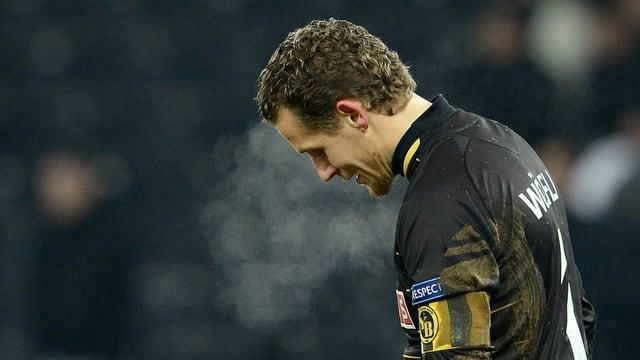 Ein enttäuschter Marco Wölfli nach dem Ausscheiden in der Europa League.