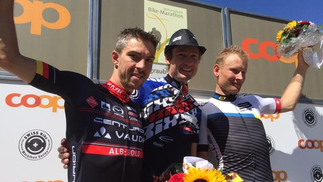 Da san: Jochen Käss (2), Lukas Buchli (1) ed Urs Huber (3).
