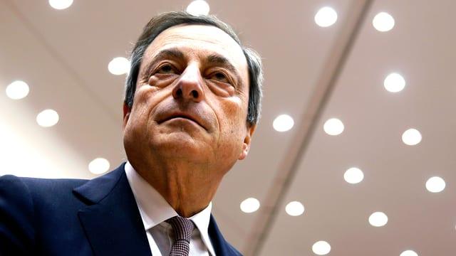 Portrait des EZB-Chefs Mario Draghi.