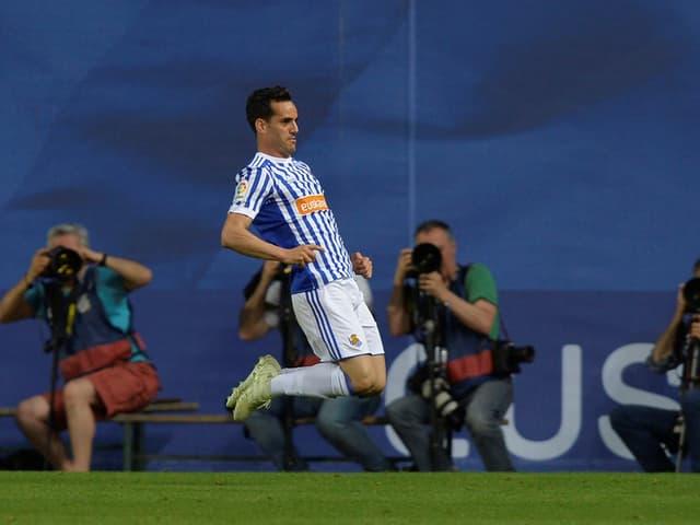 Der Spanier setzte für San Sebastian zu einem starken Schlussspurt an.
