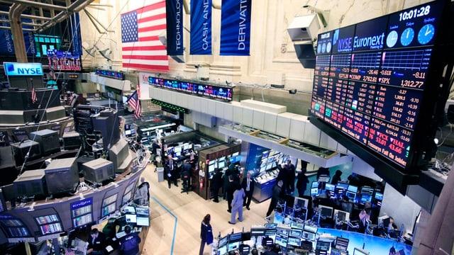 Handelsraum an der US-Börse Nyse