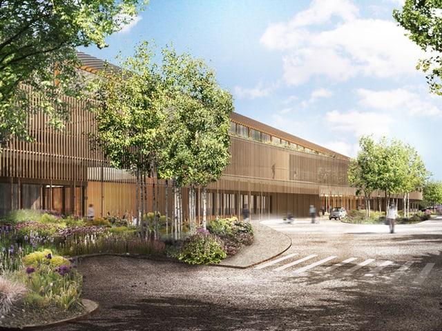 Visualisierung des neuen Kinderspitals