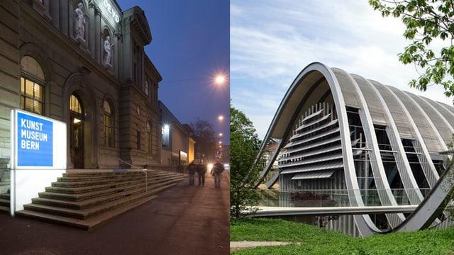 Kunstmuseum und Zentrum Paul Klee im Bild.