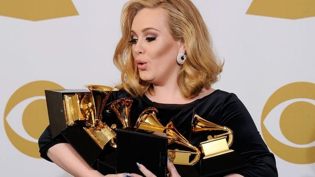 Wer macht es ihr nach? Adele gewann 2012 sechs Auszeichnungen.