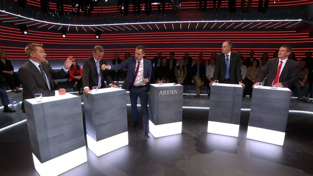 Parteispitzen in der «Wahl-Arena» (Artikel enthält Video)