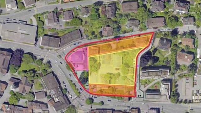 Karte mit dem Areal Platztor.