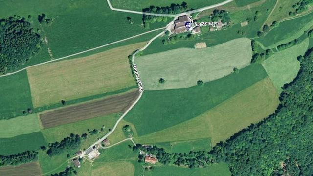 Kartenausschnitt Brunnersberg