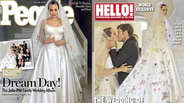 Angelian Jolie, Brad Pitt undi hre Kinder bei der Hochzeit