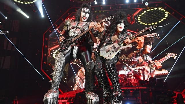 Kiss auf ihrer aktuellen «End Of The Road»-Tour.