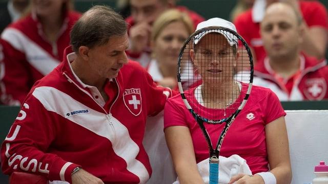 Captain Heinz Günthardt und Romina Oprandi dürfen in der Schweiz antreten.