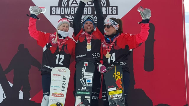 Da san. Julie Zogg, Ladina Jenny e Stefanie Müller.