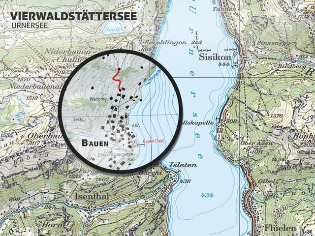Karte von Bauen