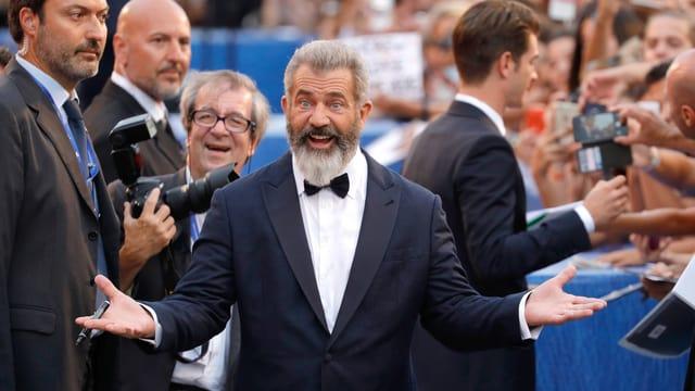 Regisseur Mel Gibson besucht die Premiere seines Films «Hacksaw Ridge» an den 73. Internationalen Filmfestspielen von Venedig.