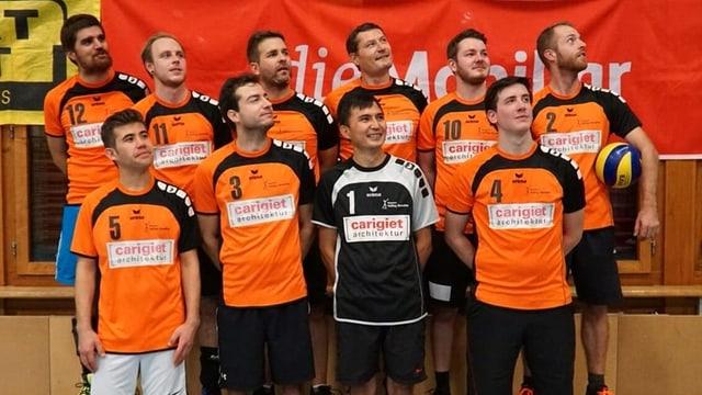 Equipa dals umens Volley Surselva.