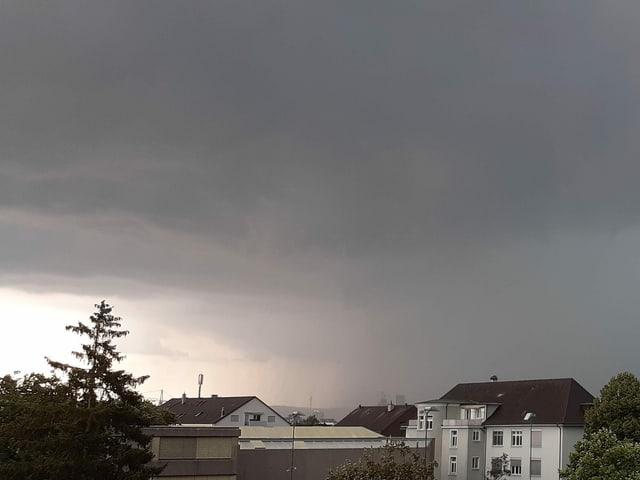 Gewitter in Allschwil (BL).