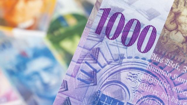Banknote in der Höhe von 1000 Franken